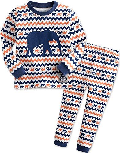 Vaenait Baby Kinder Jungen Nachtwaesche Schlafanzug-Top Bottom 2 Stuck Set Eli Blue L (Waschen Eli)