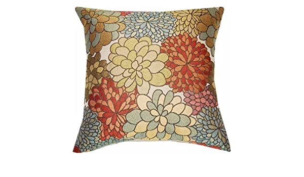 Beautiful Elegant Mumsfield Floral Decor Polyester Fabric Pillow Amazing Better Homes And Gardens Mumsfield Floral Decor Pillow