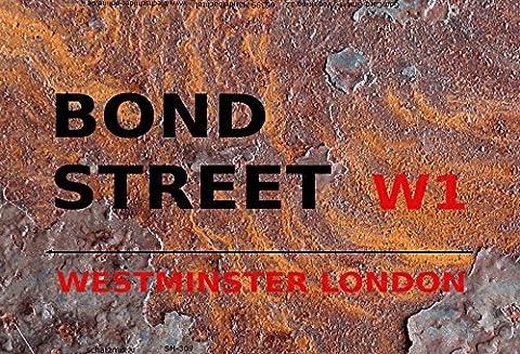 London Street Sign blechschild Bond Street Westminster W1 - rust