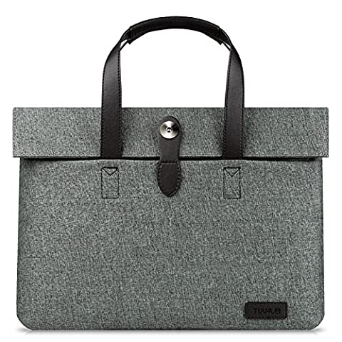 Universal Notebook case manchon main porte-documents Sacs affaires élégant simple, 13 cm,gris foncé