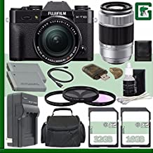 Fujifilm X-T10 Mirrorless Digital Camera With 18-55mm Lens (Black) + Fujifilm XC 50-230mm F/4.5-6.7 OIS Lens (Silver) + 16GB + 32GB Green's Camera Bundle 7