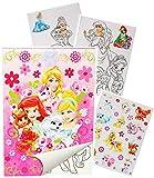 alles-meine.de GmbH Großer A4 - Malblock & Stickerset -  Disney Princess / Palace Pets - Prinzess..