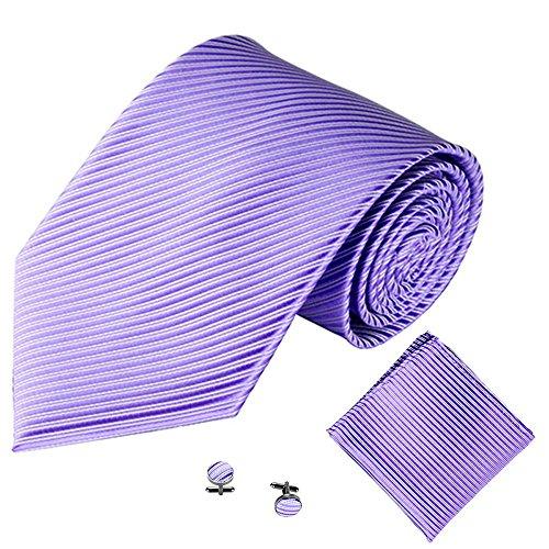 Xmiral Männer Klassische Krawatte Party Taschentuch Krawatte/Einstecktuch / Manschettenknöpfe 3 STÜCKE(I)