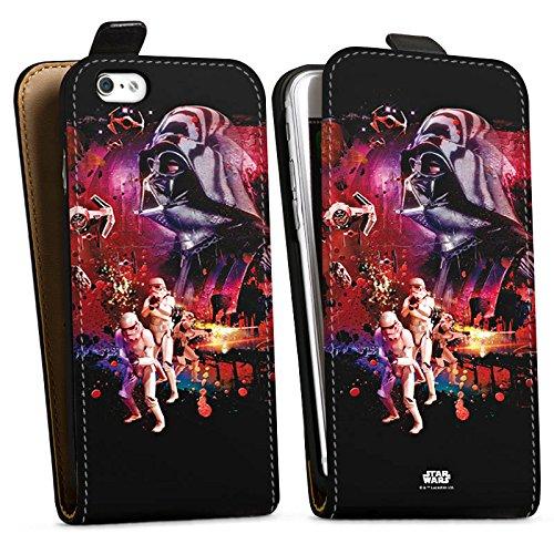 Apple iPhone X Silikon Hülle Case Schutzhülle Star Wars Merchandise Fanartikel die dunkle Seite der Macht Downflip Tasche schwarz