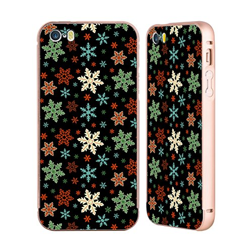 official-haroulita-snow-flakes-patterns-gold-aluminium-bumper-slider-case-for-apple-iphone-5-5s-se
