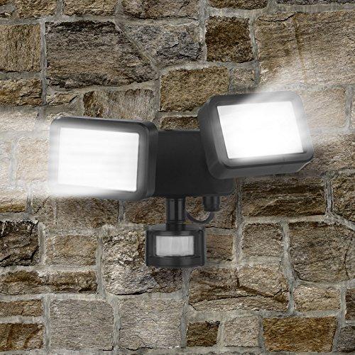Easymaxx Security LED exterior Foco | Foco Doble detector