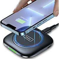 INIU Wireless Charger, Qi-Zertifiziert 15W Kabelloses Schnellladegerät Ladepad mit Auto-Adaptive LED-Anzeige mit iPhone…
