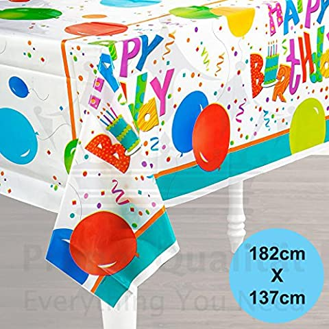 Plastic Table Cloth Balloons Design Happy Birthday Tablecloth Tableware Cover