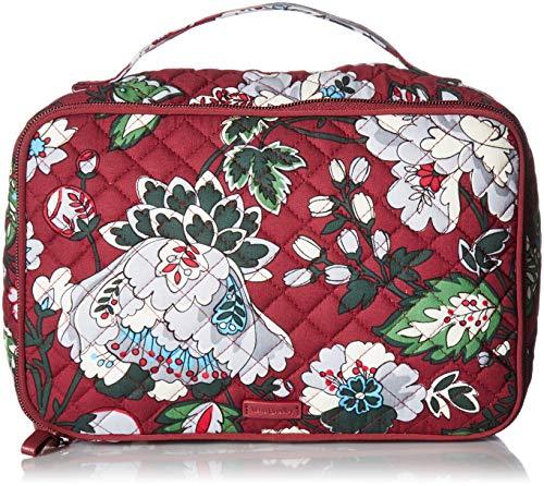 Vera Bradley Damen Iconic Large Case, Signature Cotton kultige, große Hülle, Pinsel & Rouge (Blush & Brush), charakteristisch, Baumwolle, Bordeaux Blooms, Einheitsgröße (Vera Bradley-t-shirt)