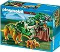 Dinosaurios - Triceratops con bebé (5234) de Playmobil