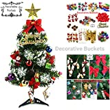 #5: Decorative Buckets:christmas decorations :ASSORTED CHRISTMAS TREE DECORATIONS|PACK OF 25 |MIX CHRISTMAS DECORATIONS |chistmas gifts christmas balls, pinecone,candy stick, christmas bells drums banner : CHRISTMAS TREE DECORATIONS | MIX ornaments | christmas tree decorations |christmas tree hanging| christmas décor | christmas tree ornaments