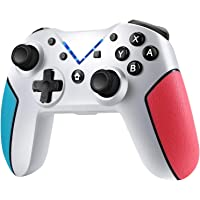 Jamswall Controller Wireless Compatible per Nintendo Switch, Gamepad Bluetooth Supporta Turbo, 6-Axis Gyro, Dual…