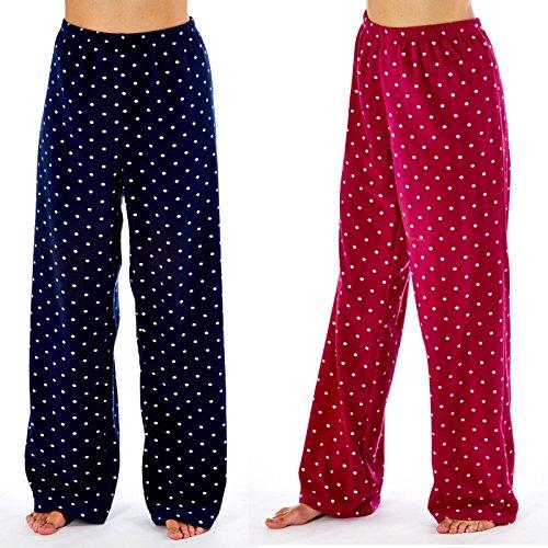 Ladies Lounge Pants Fleece Pyjamas L trousers pyjamas Bottoms (2 PACK) - 61RnlPrBhML - Ladies Lounge Pants Fleece Pyjamas L trousers pyjamas Bottoms (2 PACK)
