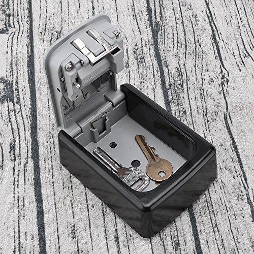 ONEVER Llave Segura Caja de Bloqueo de Teclas Llave de Combinaci/ón de 4 D/ígitos Montada en la Pared Caja Segura Caja de Almacenamiento Resistente y Teclas Seguras