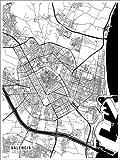 Poster 30 x 40 cm: Valencia Spanien Karte von Main Street