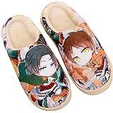 SHOESESTA Zapatillas De Felpa Invierno Damas Hombres Anime Lindos Cálidos Caseros Casuales Interiores Antideslizantes Zapatos