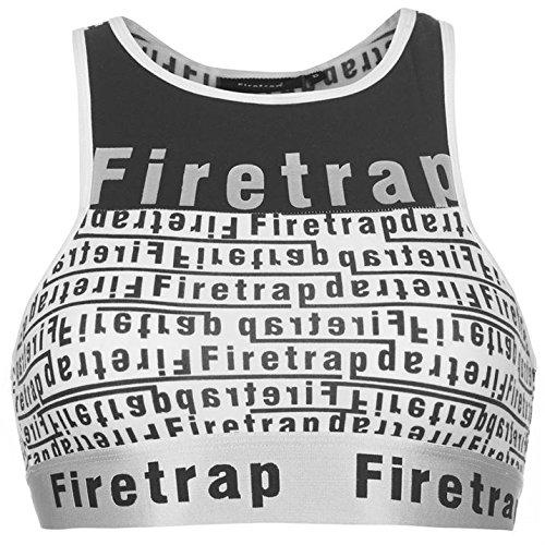 Firetrap Donna Luxe Bassiera Bianco/Nero AOP