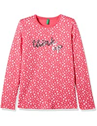 United Colors of Benetton Baby Girls' T-Shirt (17A3VQ0C13GVI_Magenta_1Y)