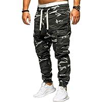 Pantaloni Cargo Uomo,Momoxi Pantaloni Lunghi Autunno e Primavera Uomo con Coulisse Laterali Trousers della di Hip Hop…
