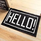 DZW Kreativ Briefmatten Rechteck Türmatten Fußpolster Schlafzimmer Küche Bad Wohnzimmer Dekorative Matten 45 ~ 80 cm , 45*65cm , hello!,Persönlichkeit