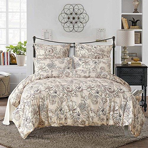 DMMASH Bettwäsche Duvet Dreiteilige Tencel Bettbezug Kissenbezug Drei Sätze von Super Soft (Bettbezug + Kissen Shams),Twin (Kissen Sham-bett-satz)