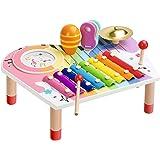 BeebeeRun Set di Strumenti Musicali per Bambini, Xilofono per Bambini, Set Regalo di Compleanno per Ragazze (10 Pezzi)