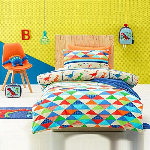 Jiggle&Giggle Kids Toddler Single 7-Piece Set Dinoland Bedding Set