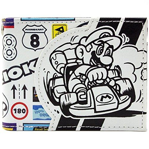 Cartera de Nintendo Mario Kart insignia del patrocinador Blanco