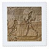 3dRose QS 69691_ 1Ägypten, Edfu, außen Wand Relief,