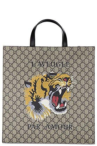 Gucci-mens-bag-handbag-tote-shopping-gg-supreme-print-tigre-beige