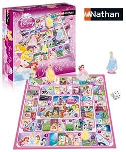 Nathan - 31309 - Jeu de Société - Jeu de l'oie - Disney Princesse