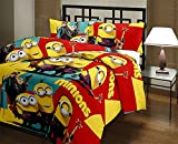 #4: Renown Adorable Kids Cartoon Minions Design Reversible Double Bed Quilt / AC Blanket / Dohar ( Pack Of 1 Pc )