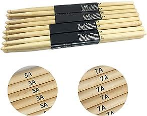 AchidistviQ 1Pair Lightweight 5A 7A Maple Wood Drumsticks Drum Sticks Music Accessory Part
