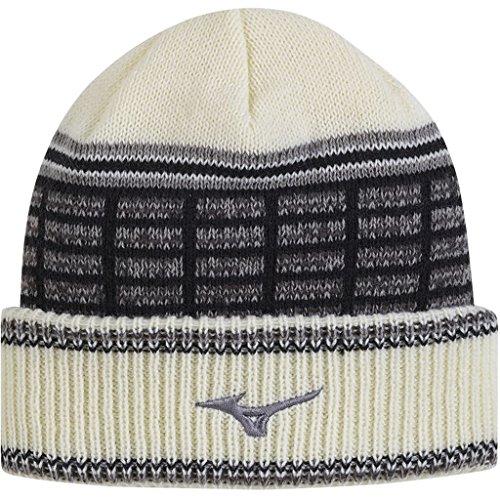 Mizuno Golf 2017 Mens Breath Thermo Beanie Sports Winter Golf Hat White One Size