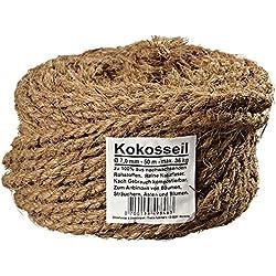 Kokosseil Ø 7 mm - Baumanbinder aus Kokosfaser - ungefärbte Naturfaser - 50 m