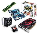 One PC Aufrüstkit | AMD FX-Series Bulldozer FX-8350, 8x 4.00GHz | montiertes Aufrüstset | Mainboard: Gigabyte GA-78LMT-USB3 | 8 GB RAM (1 x 8192 MB DDR3 Speicher 1600 MHz) | CPU Mainboard Bundle | Grafik: 2048 MB AMD Radeon R7 240, VGA, DVI, HDMI | komplett fertig montiert!
