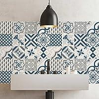 (72 PIECES) carrelage adhésif 10x10 cm - PS00083 - Leuca - Adhésive décorative à carreaux pour salle de bains et cuisine Stickers carrelage - collage des tuiles adhésives
