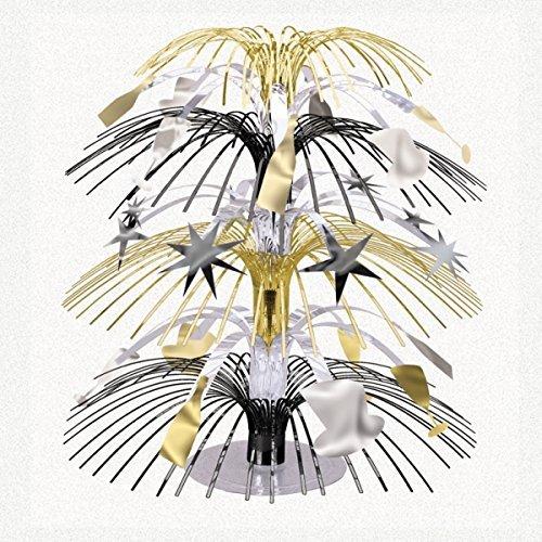 Amscan International Schwarz, Silber und Gold Mini Folie Cascade tafelaufsätze (3Pack)