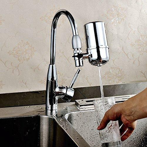Wasserfilter Water Purifier Hihoddy Gesundes Wasserhahn WasserFiltersystem Leitungswasser Luftreiniger Filter Wasserreinigungsgerät für Küche Wasserhahn Mount Filter mit Advanced Water Filtration (Wasserhahn Wasser-filter-patrone)