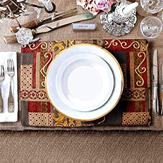 Artbisons Sets of 6 Place Mats 16x12 Europe Handmade Gold Illusion Abstract Table Mats