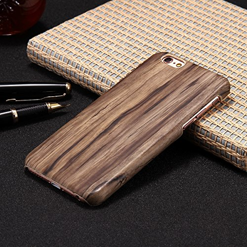 Custodia Cover per iPhone 6/6S plus, iPhone 6/6S plus Case Cover Morbido con Impressionante texture di superficie legno design, Ukayfe Silicone TPU Flessibile Custodia Backcover Case Cover per iPhone  Noce