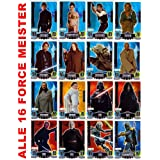 Star Wars Force Attax Serie 3 – Movie Card Collection – Alemán – Los 16 Force Meister Tarjetas