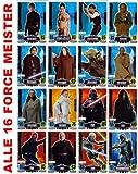 STAR WARS FORCE ATTAX SERIE 3 - Movie Card Collection - Deutsch - Alle 16 Force Meister Karten