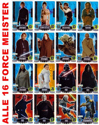 Star Wars Force Attax série 3 - Movie Card Collection - Allemand - toutes les cartes 16 Force Meister