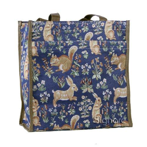Signore/ragazze Shopping Bag a tracolla in tela Mattina Giardino Design Vita della foresta