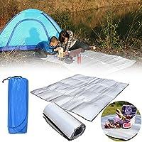 Beautyrain Acampar al aire libre de la comida campestre dormir almohadilla del colchón Papel de aluminio resistente al agua de EVA estera a prueba de humedad