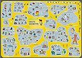 mindmemo Lernposter - Erste Schritte - Deutsch für Anfänger DaZ DaF - spielend Deutsch lernen Kinder Vokabeln lernen mit Bildern Lernhilfe Poster DIN A2 42x59 cm PremiumEdition Transportrolle