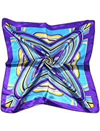 niceeshop(TM) Women Hipster Style Head Wrap Paisley Imitated Silk Badana, Purple, 50x50cm/19.7x19.7inch