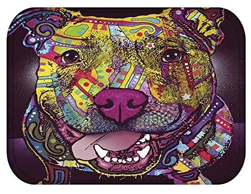Wamnu YJBear Lovely Dog Pattern Print Floor Mat Rectangle Doormat Kitchen Floor Runner Home Decor Carpet Coral Fleece Indoor 16