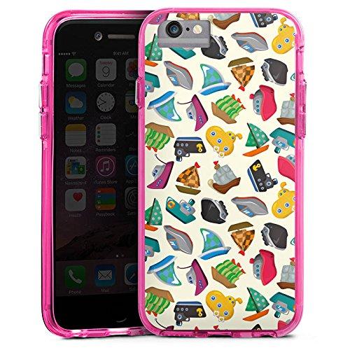 Apple iPhone 6 Bumper Hülle Bumper Case Glitzer Hülle Schiffe Spielzeug Bad Bumper Case transparent pink
